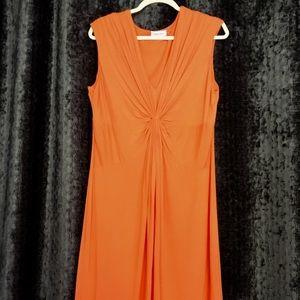 Calvin Klein Orange 🍊 Dress 👗 Rayon New Size 14